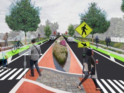 accessible gi/lid streetscape
